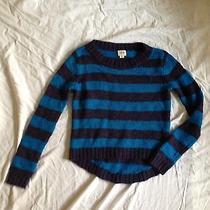 Mossimo Sweater Blue Striped  90% Acrylic 10% Wool Size M Photo