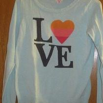 Mossimo Sweater Love Juniors Medium Casual Trendy Rocker Peace Photo