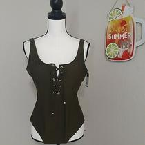 Mossimo Swimwear  One Piece Green Size Large Photo