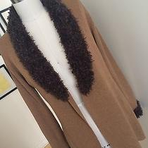 Mossimo Tan Sweater Cardigan With Brown Shawl & Wrist Detail Size Xs Photo