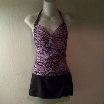 Mossimo Tankini Swimsuit Top Size S & Ocean Dream Black Skirted Bottom Size 6 Photo