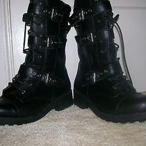Mossimo - Valerie Womens  Black Combat Boots  Size 9 Photo
