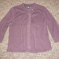 Mossimo Wine Deep Purple Knit Sweater Cardigan Top Size Medium  Photo