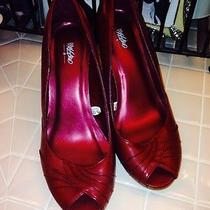 Mossimo Wine Ruched Leather Heels Photo