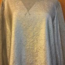 Mossimo Woman's Plus Silver & Gray Sweatshirt Size Xxl 2x Photo