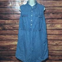 Mossimo Women's Blouse Size Large Sleeveless Blue Maternity Photo