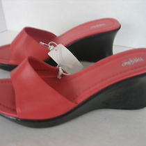 Mossimo Women's Coral Polly Leather Slip on Wedge Shoe Sz 7 1/2 Nwt 490771514224 Photo