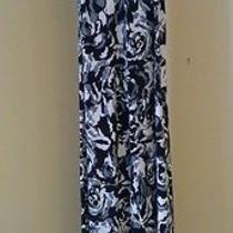 Mossimo Women's Maxi Dress Xl/tg Floral Black White 55