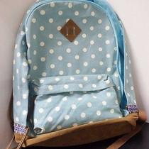Mossimo Women's Polka Dot Canvas Backpack Blue Photo