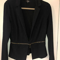 Mossimo Womens Black Blazer With Gold Detail  Size Medium Photo