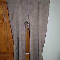 Mossimo Womens Gray/black/white/blue Plaid Stretch Cropped Capri Pants Size 2 Photo