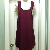 Mossimo Womens Red Pleated Straps Lined Large Trendy Dress Photo