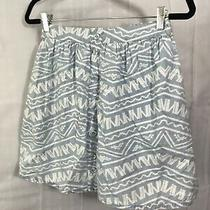 Mossimo Womens Size M Skirt Blue White Aztec Pattern Cotton Above Knee   Photo