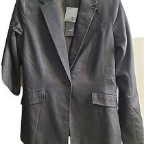 Mossimo Womens Suit Jacket Blazer Black Slim Long Sleeve Business Career Sz8 Photo