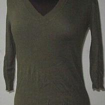 Mossimo Womens Sweater v Neck Pullover Army Green Size Small  Photo