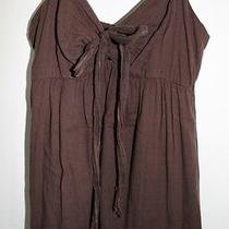 Mossimo Womens Xs Brown Long Tiered Cotton Summer Dress Nice Photo