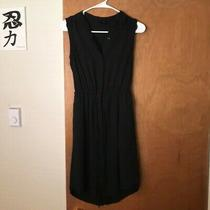 Mossimo Xs Black Sleeveless Button-Up Knee-Length Dress Photo