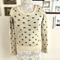 Moth Anthropologie Crewneck Polka Dot Fuzzy Soft Sweater Xs Photo