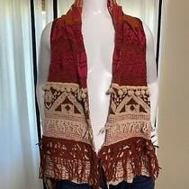 Moth Anthropologie Sleeveless Open Front Sweater Vest With French Size Xs/s Photo