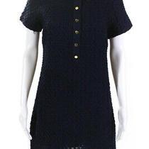 Moth Anthropologie Womens Short Sleeve Woven Collared Shift Dress Navy Blue Sp Photo
