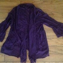 Moth Cardigan Anthropologie Violet Size Small Photo