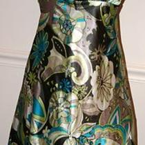 Mother Bride Evening Party Dress Como Empire Silky Floral Sun Tunic Gray L Photo