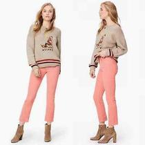 Mother Jeans the Mid Rise Dazzler Ankle in Corduroy Blush Pink Hopscotch Size 28 Photo