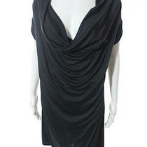 Mother of Pearl Black Gray Cowl Neck Dress Sz M Photo