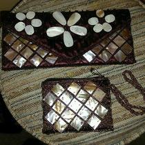 Mother of Pearl Natural Horn Wrislet & Clutch Purse Set Photo