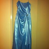 Mother of the Bride Dress Baby Blue Spaghetti Strap Dress Size 13-14 Photo