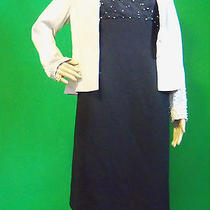 Mother of the Bride Dress Size 6 Adrianna Papell Pearl Beaded Retail 139 Photo