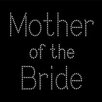 Mother of the Bride Rhinestone Bling Tshirt - Blingy Tee for Bride's Mom Photo