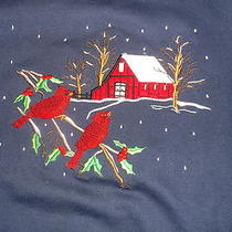Mother's Day...liteweight Navy Blue Sweatshirt..cardinal Birds..new in Package Photo