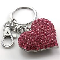 Mother's Day Valentine's Day Gift Love Pink Heart Car Keychain Key Ring Charm Q1 Photo