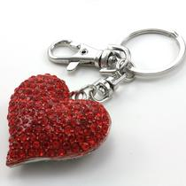 Mother's Day & Valentine's Day Gift Love Red Heart Car Keychain Key Ring Charm Photo