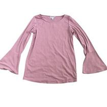 Motherhood Maternity Blush Pink Long Sleeve Top Womans Size Medium Photo