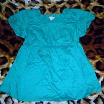 Motherhood  Maternity Womens Xl Teal/aqua Blouse Dress Shirt Top Cute Photo