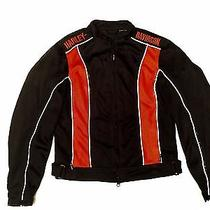 Motorcycle Harley-Davidson Womens Md Reflective Perforated Jacket Like New  Photo