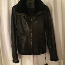 Motorcycle Jacket Black Leather Andrew Marc Photo