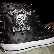 Motorhead Heavy Metal Custom Studded Converse Chuck Taylor Sneakers Shoes Spikes Photo