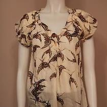 Moulinette Soeurs Pellucid Wings Anthropologie Silk Birds Shirt Size 0 Photo