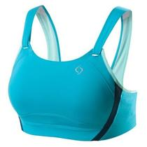Moving Comfort Jubralee Bahama Blue Running Workout Yoga Sports Bra 38b 38 B    Photo