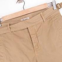 Mrvntg Apr128 Acne Mumbai Shorts Pants Premium Chinos Button Fly Beige Size 48 Photo