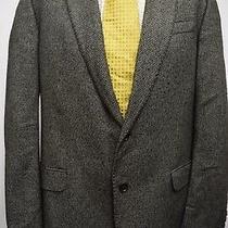 Ms3323 Armani Collezioni Gline Men's Black/white Blazer Jacket Size 42 Uk Photo