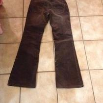 Msrp 88 Express Brown Corduroy Pants Size 6 X 32 Preowned Photo