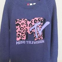 Mtv h&m Divided Women's Sweater Purple Music Television  4h&m   Photo