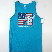 Mtv Music Television Fifth Sun American Blue Xl Vintage Tank Top Tshirt Mens Nwt Photo