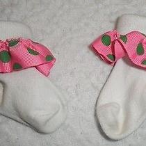 Mud Pie 3 6 9 12 Month Girls a Initial Socks Addison Ashley Annie Ann Anna Amy Photo