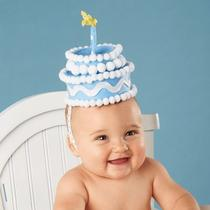 Mud Pie Inc Blue Felt Cake Headband Photo
