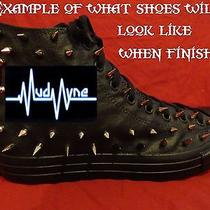 Mudvayne Metal Punk Rock Custom Studded Converse Shirt Sneakers Shoes W Spikes Photo